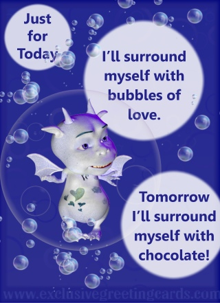 just for today bubbles of love