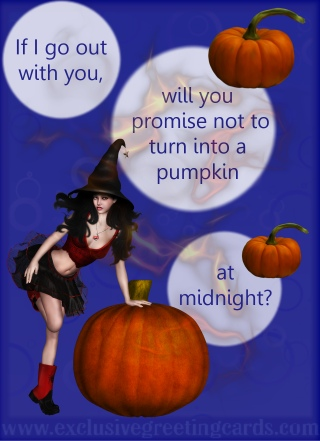 Bewitching Greeting Card - pumpkin