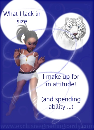 attitude greeting card size